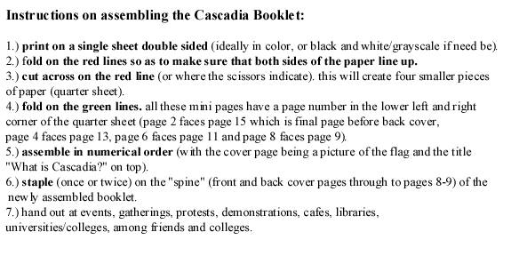 Cascadia Booklet Instructions